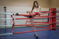 Woman karate domination over male 011