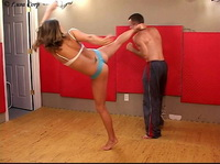 Woman karate domination over male 040