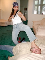 Woman karate domination over male 101