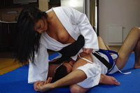 Woman karate domination over male 2