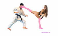 07 - Karate Woman in thong leotard