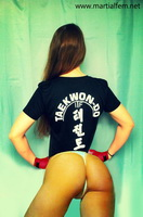 01 - taekwondo girl in tiny thong