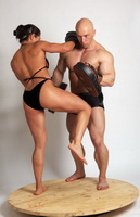 bikini martial arts woman versus man 1